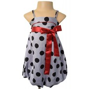 Beautiful Dotted Bubble Party Dress for your Princess