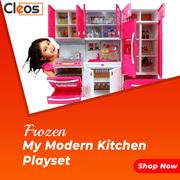 Cleos Kids Kitchen Play Set with Light & Sound Cooking Kitchen Set