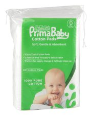 Prima baby Squares,  Soft and Gentle,  Chemical Free,  60 Pcs - Combo P